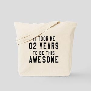 02 Years Birthday Designs Tote Bag