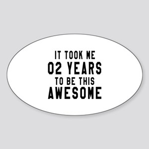 02 Years Birthday Designs Sticker (Oval)