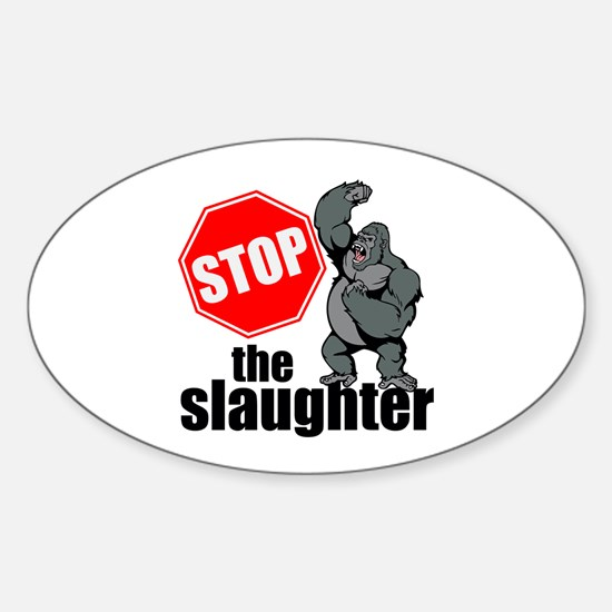 Stop Ape Slaughter Bumper Stickers