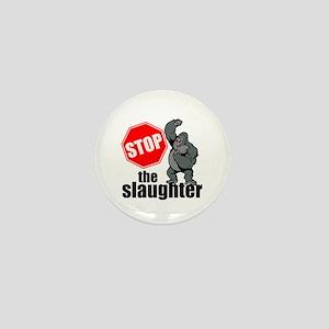 Stop Ape Slaughter Mini Button