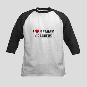 I * Graham Crackers Kids Baseball Jersey