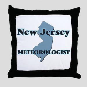 New Jersey Meteorologist Throw Pillow