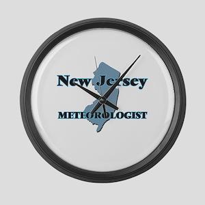 New Jersey Meteorologist Large Wall Clock