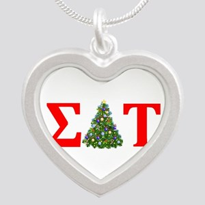 Sigma Delta Tau Christmas Tree Necklaces