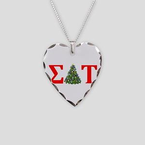Sigma Delta Tau Christmas Tree Necklace