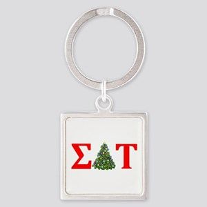 Sigma Delta Tau Christmas Tree Keychains