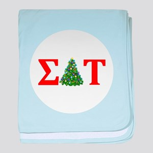 Sigma Delta Tau Christmas Tree baby blanket