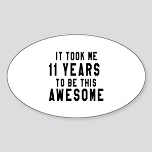 11 Years Birthday Designs Sticker (Oval)