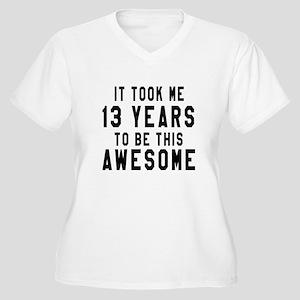 13 Years Birthday Women's Plus Size V-Neck T-Shirt
