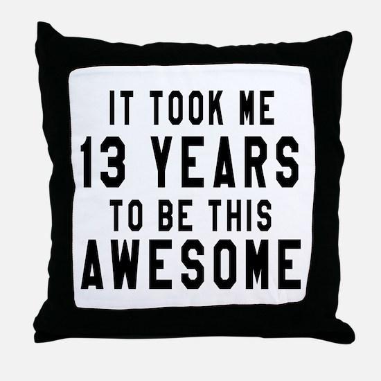 13 Years Birthday Designs Throw Pillow