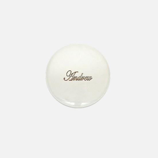 Gold Andrew Mini Button