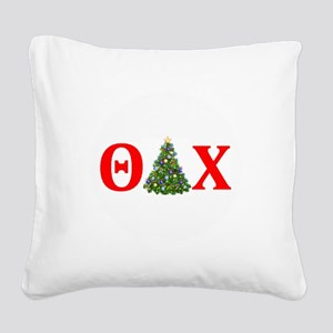 Theta Delta Chi Christmas Square Canvas Pillow