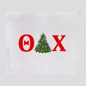 Theta Delta Chi Christmas Throw Blanket