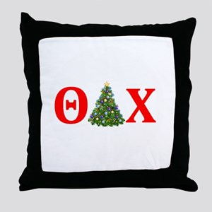Theta Delta Chi Christmas Throw Pillow