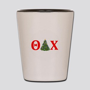 Theta Delta Chi Christmas Shot Glass