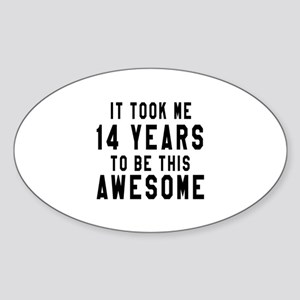 14 Years Birthday Designs Sticker (Oval)
