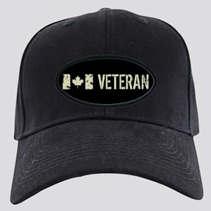 Canadian Flag: Veteran Black Cap with Patch