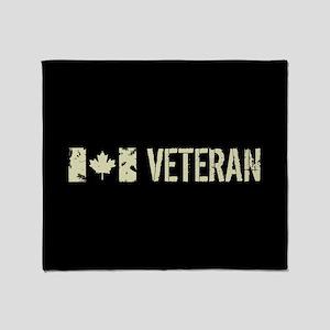 Canadian Flag: Veteran Throw Blanket