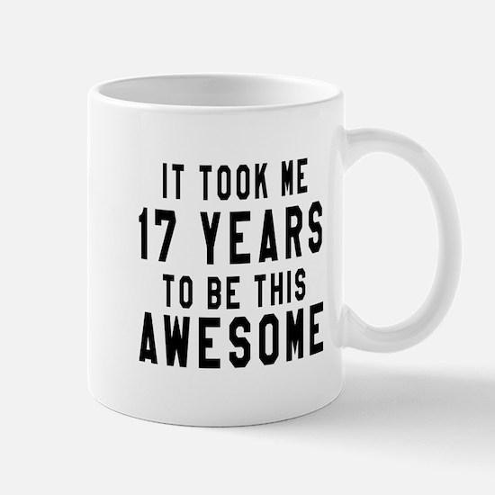 17 Years Birthday Designs Mug