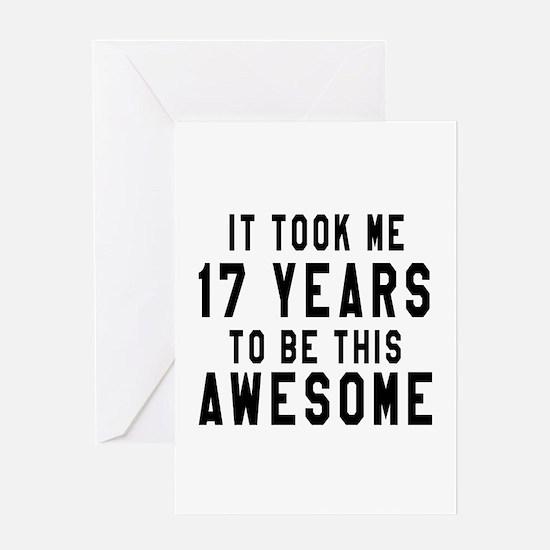 17 Years Birthday Designs Greeting Card