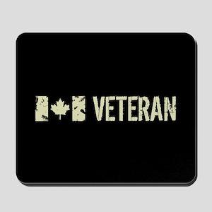 Canadian Flag: Veteran Mousepad