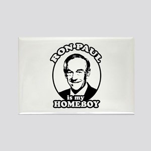 Ron Paul is my homeboy Rectangle Magnet