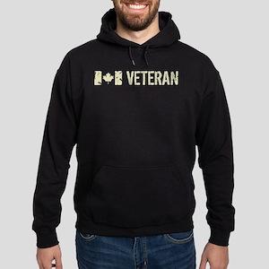 Canadian Flag: Veteran Hoodie (dark)