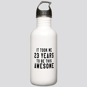 23 Years Birthday Des Stainless Water Bottle 1.0L