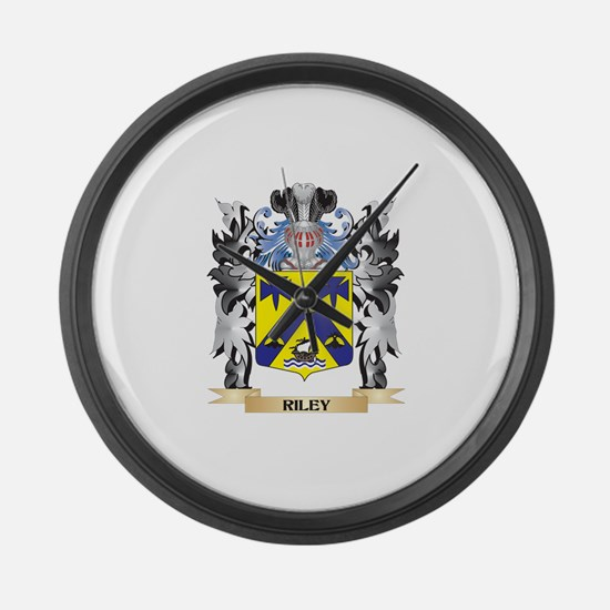 Riley Coat of Arms - Family Crest Large Wall Clock