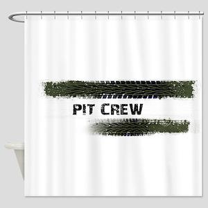 Pit Crew Shower Curtain