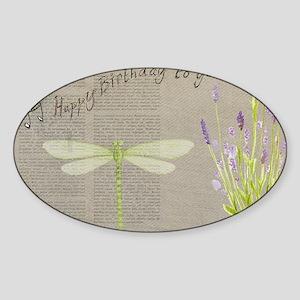 happy birthday Sticker (Oval)