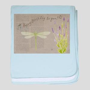 happy birthday baby blanket