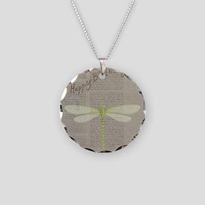 happy birthday Necklace Circle Charm