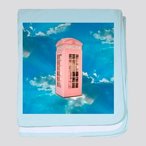 telephone booth baby blanket