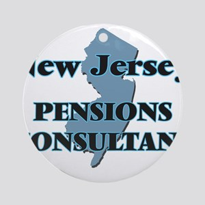 New Jersey Pensions Consultant Round Ornament