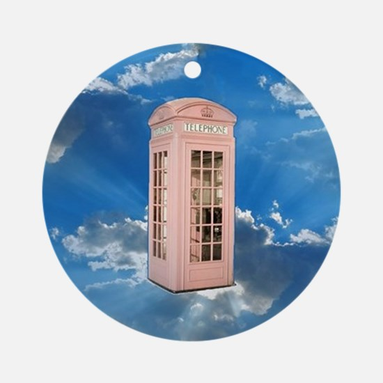 telephone booth Round Ornament