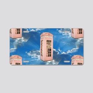 telephone booth Aluminum License Plate