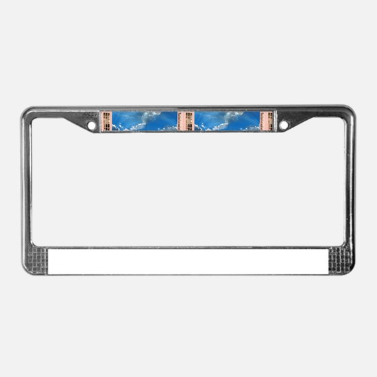 telephone booth License Plate Frame