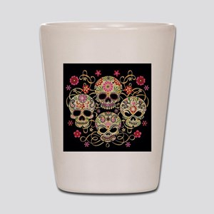 Sugar Skulls III Shot Glass