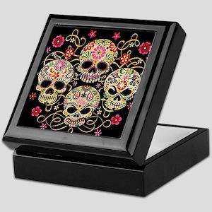 Sugar Skulls III Keepsake Box