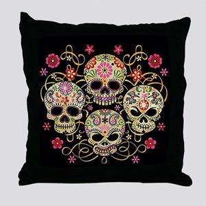 Sugar Skulls III Throw Pillow