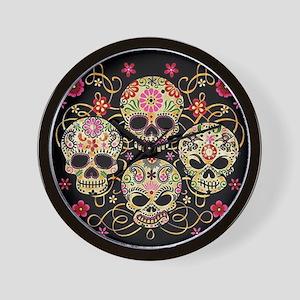 Sugar Skulls III Wall Clock