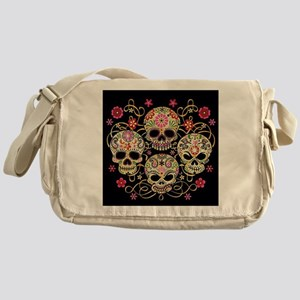 Sugar Skulls III Messenger Bag