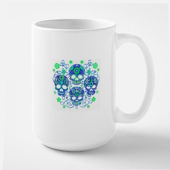 Sugar Skulls IV Large Mug