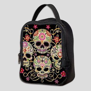 Sugar Skulls III Neoprene Lunch Bag