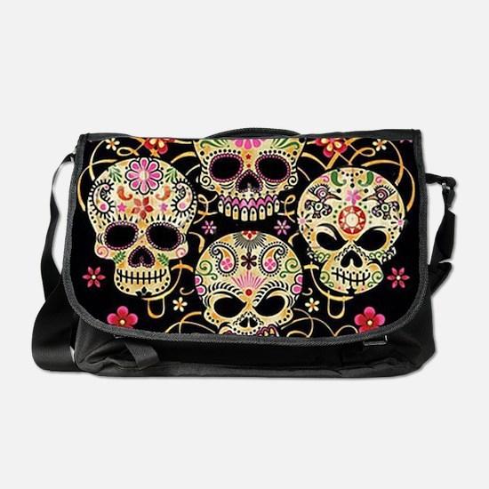 Sugar Skulls III Messenger Bag