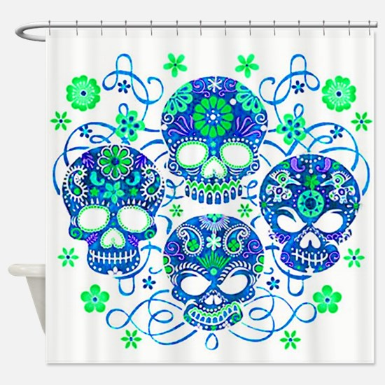 Sugar Skulls IV Shower Curtain
