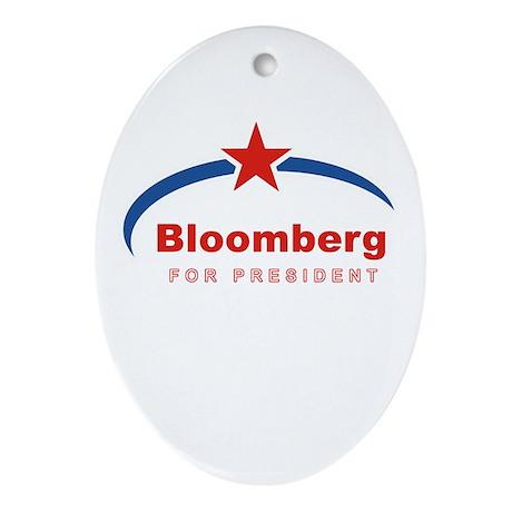 Bloomberg for President Oval Ornament