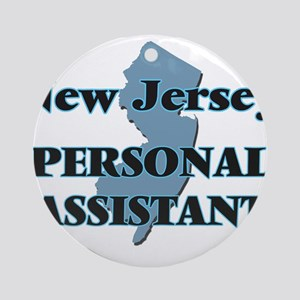 New Jersey Personal Assistant Round Ornament