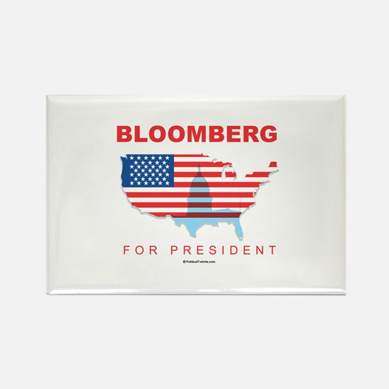 Bloomberg for President Rectangle Magnet